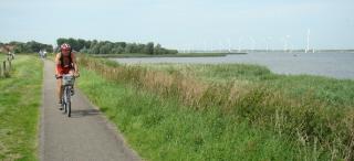 Spagenburgista koilliseen, pyörätietä kanaalin penkereellä