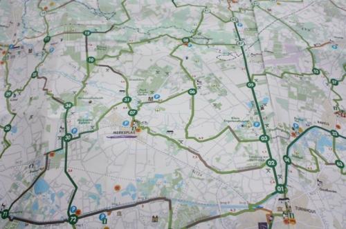 Belgian pyöräretkikarttaa - knooppunkt