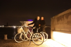 Night cycling in Copenhagen with Leena